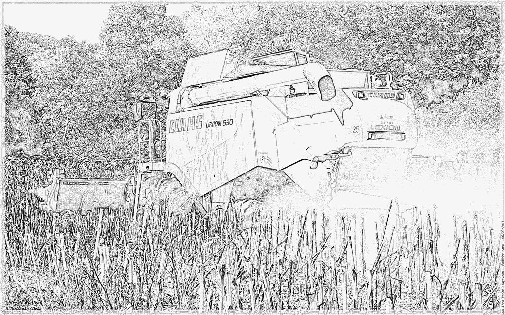 Coloriages imprimer tracteur num ro 61875 - Dessin moissonneuse ...