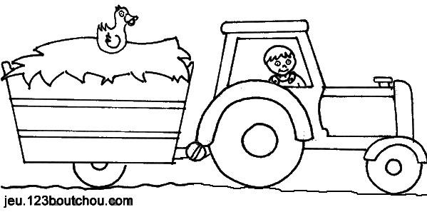 Coloriages à imprimer : Tracteur, numéro : 7353