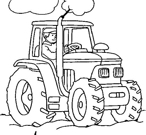 Coloriages à imprimer : Tracteur, numéro : 7621