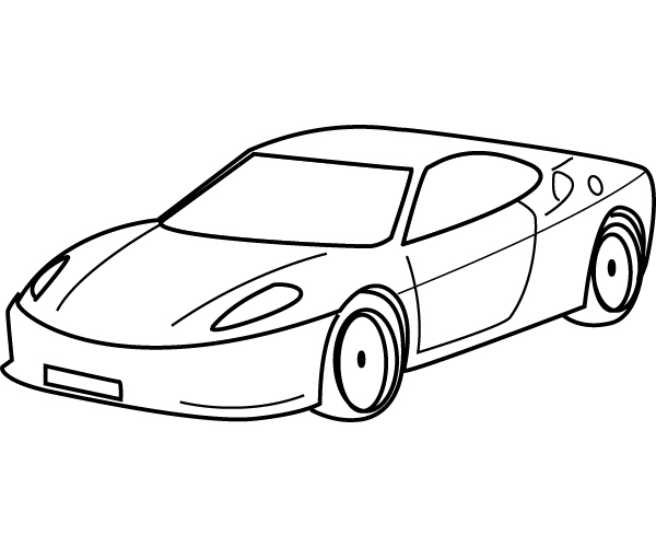 simple vehicle coloring pages - photo#4