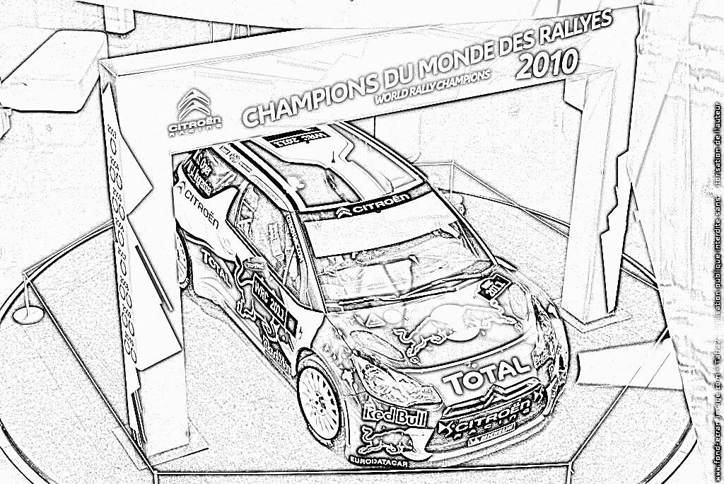 Coloriage de voiture de rallye a imprimer voitures - Coloriage voiture de rallye ...