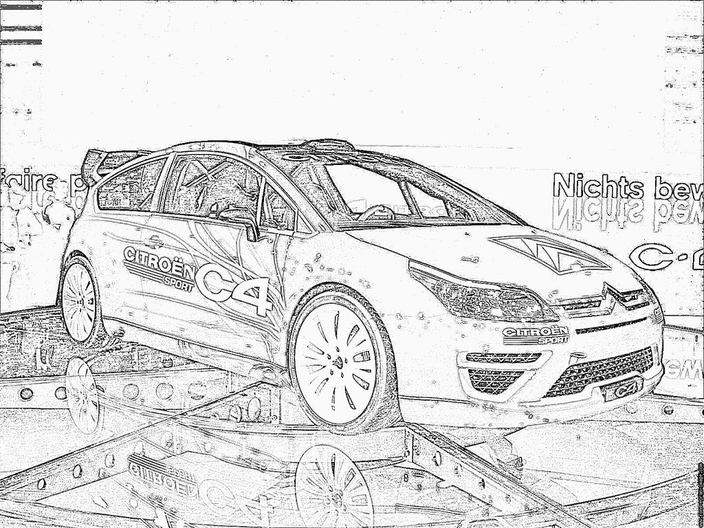 Coloriage citroen c2 dessin a imprimer - Coloriage voiture de rallye ...