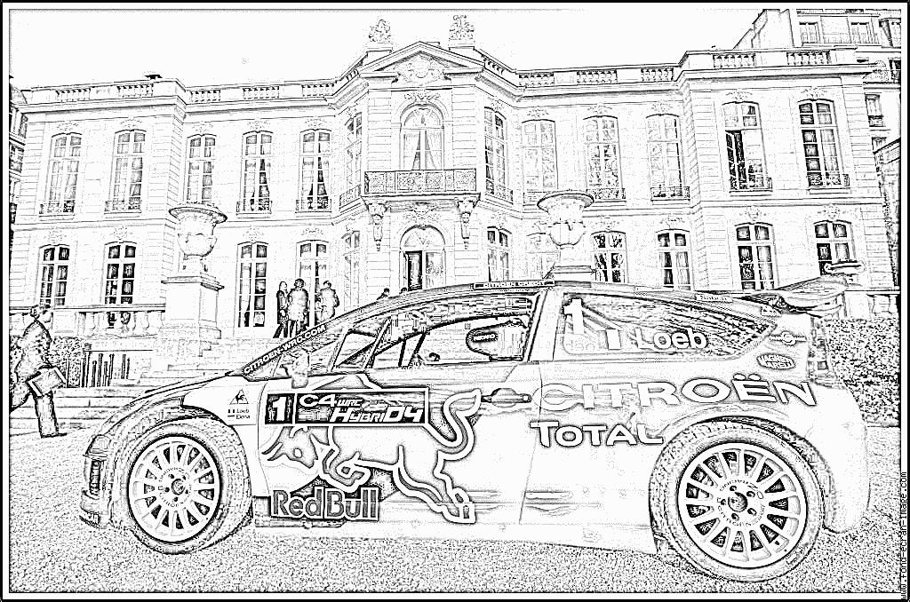 Coloriages imprimer citroen num ro 104674 - Coloriage voiture de rallye ...