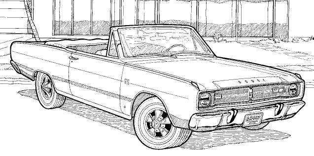 dodge charger coloring pages - photo#22