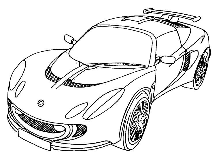 Coloriage imprimer v hicules voiture ford num ro - Dessin voiture mercedes ...