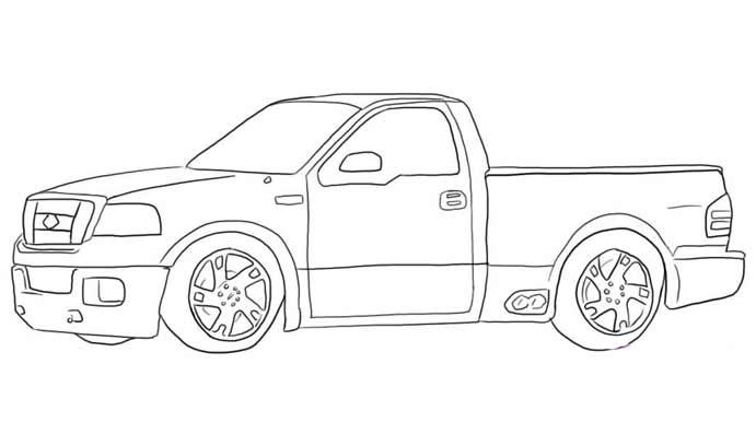 voiture 4x4 coloriage