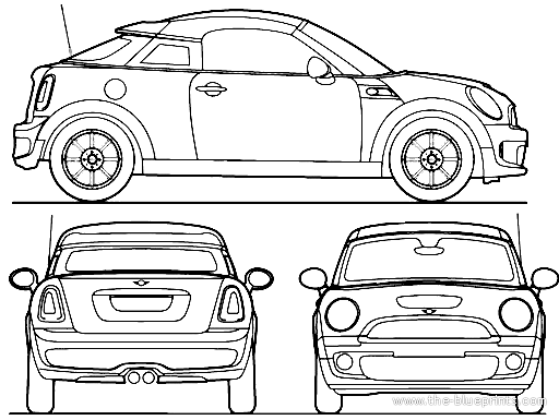 mini cooper panel coloring pages - photo#2