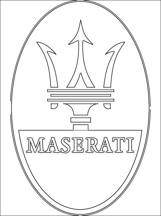 à imprimer véhicules voiture maserati numéro 459623