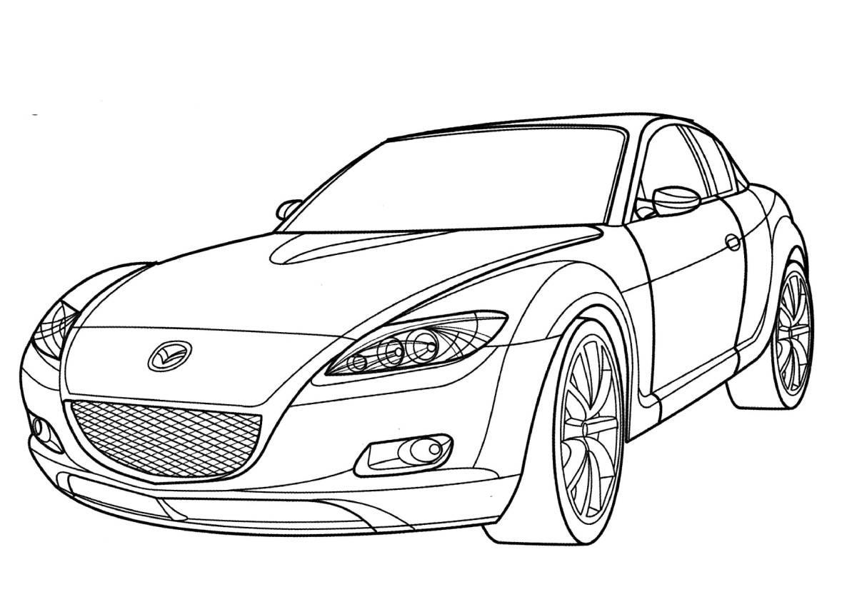 Coloriages 224 Imprimer Mazda Num 233 Ro 753526