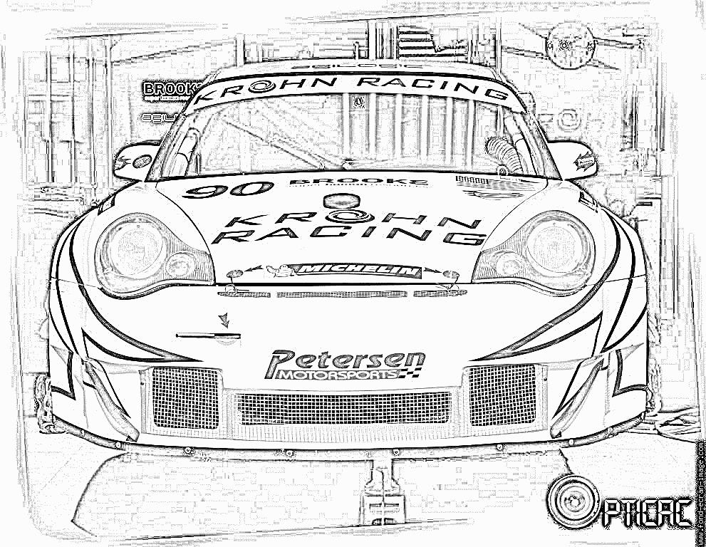 Coloriages Imprimer Porsche Num Ro 106201