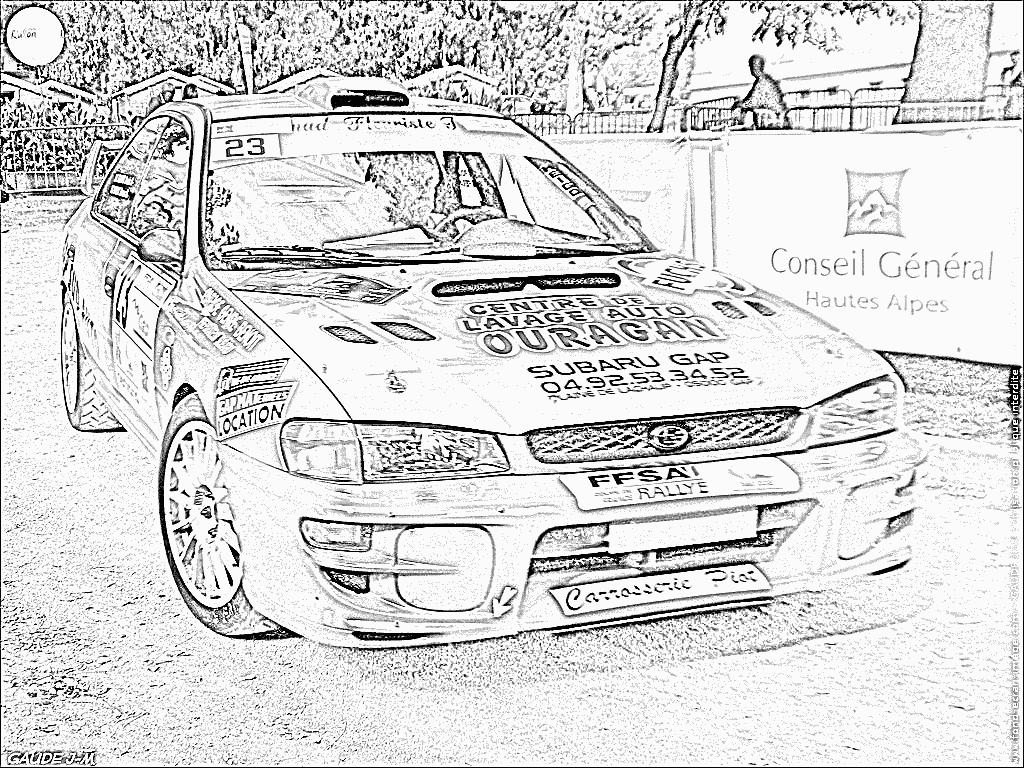 Coloriages imprimer subaru num ro 105299 - Dessin voiture de rallye ...