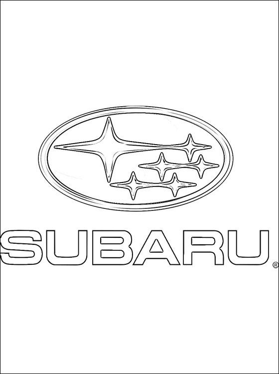 Coloriages 224 Imprimer Subaru Num 233 Ro 449923