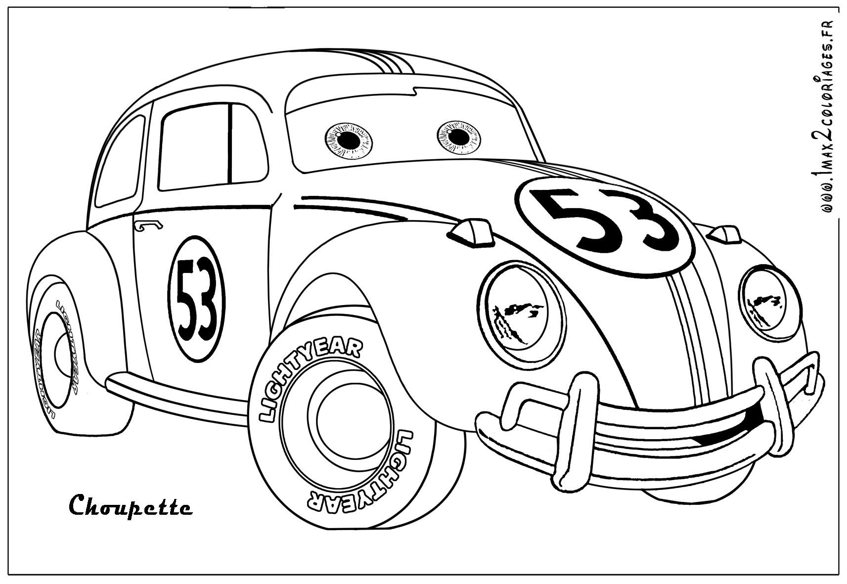 voiture coccinelle colorier