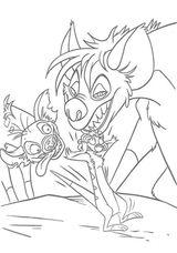 Imprimer le coloriage : Hyène, numéro 23950
