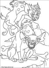 Imprimer le coloriage : Hyène numéro 25773