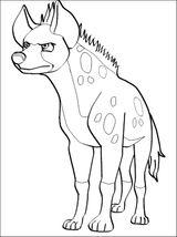 Imprimer le coloriage : Hyène, numéro 55983