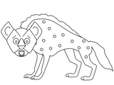 Imprimer le coloriage : Hyène numéro 673173