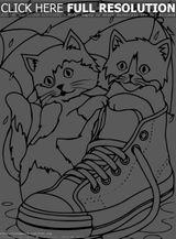 Imprimer le coloriage : Chat, numéro 4b5d7fdb