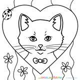 Imprimer le coloriage : Chat, numéro 682627