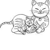 Imprimer le coloriage : Chat, numéro 8713ec73