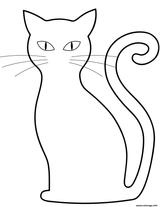 Imprimer le coloriage : Chat, numéro b627072d