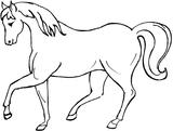 Imprimer le coloriage : Cheval, numéro 3724