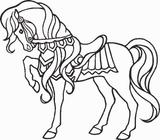 Imprimer le coloriage : Cheval, numéro 3740