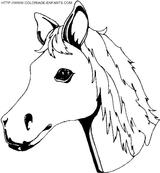 Imprimer le coloriage : Cheval, numéro 3749