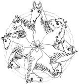 Imprimer le coloriage : Cheval, numéro 5388