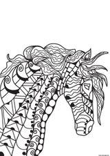 Imprimer le coloriage : Cheval, numéro e511260e