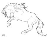 Imprimer le coloriage : Cheval, numéro fc33aa30