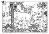 Imprimer le coloriage : Dinosaures, numéro 209546
