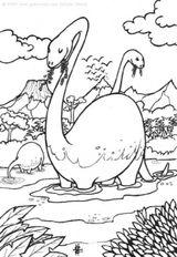Imprimer le coloriage : Dinosaures, numéro 237477