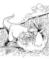 Imprimer le coloriage : Dinosaures, numéro 259978
