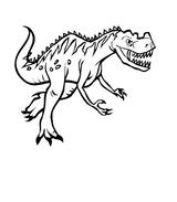 Imprimer le coloriage : Dinosaures, numéro 677574