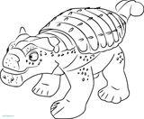 Imprimer le coloriage : Ankylosaure, numéro b845f32f