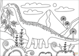 Imprimer le coloriage : Brachiosaure, numéro 7cee968f