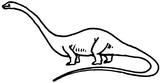 Imprimer le coloriage : Diplodocus, numéro 220124