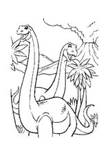 Imprimer le coloriage : Diplodocus, numéro 220133