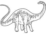 Imprimer le coloriage : Diplodocus numéro 233906