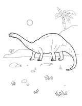 Imprimer le coloriage : Diplodocus, numéro 65881e7d