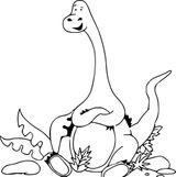 Imprimer le coloriage : Diplodocus, numéro b498f00d