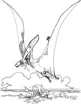 Imprimer le coloriage : Pterodactyle, numéro 220312