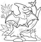 Imprimer le coloriage : Pterodactyle, numéro b0c382f0