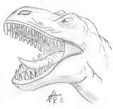 Imprimer le coloriage : T-rex, numéro 220074