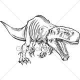 Imprimer le coloriage : T-rex, numéro 221977