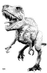 Imprimer le coloriage : T-rex, numéro 226681