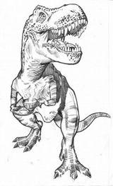 Imprimer le coloriage : T-rex, numéro 259983