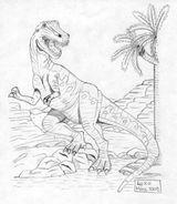 Imprimer le coloriage : T-rex, numéro 297592