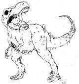 Imprimer le coloriage : T-rex, numéro 339469